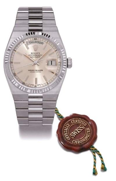 Rolex. An 18K white gold water