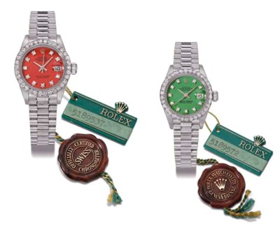 Rolex. A lot of two ladies 18K