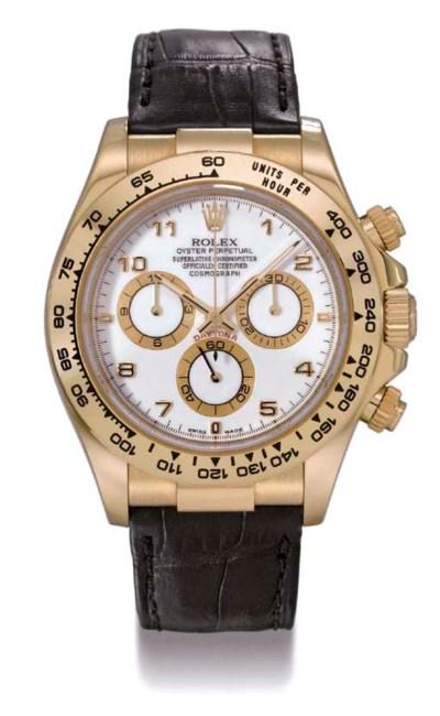 Rolex. A fine 18K gold self-wi