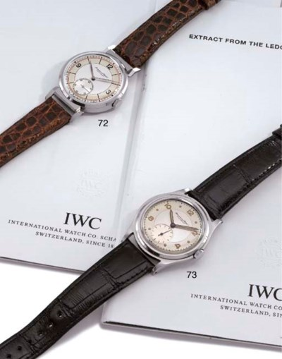IWC. A fine and unusual stainl