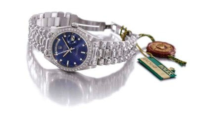 Rolex. A fine and unusual 18K