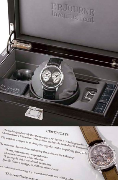 Journe. A very fine and rare,