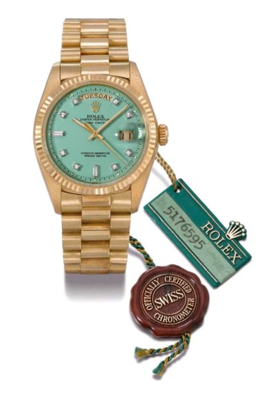 Rolex. An unusual 18K gold and