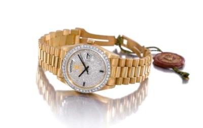 Rolex. An unusual 18K gold, sa
