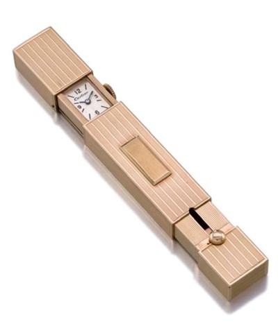 Cartier. An unusual 14K gold l