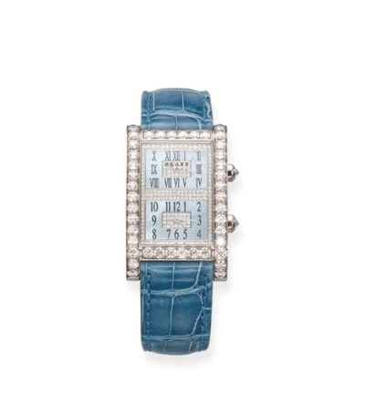 A DIAMOND-SET WRISTWATCH, BY G