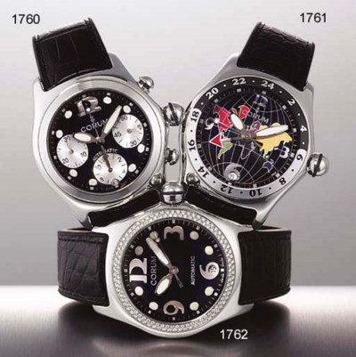 CORUM. A STAINLESS STEEL AND D