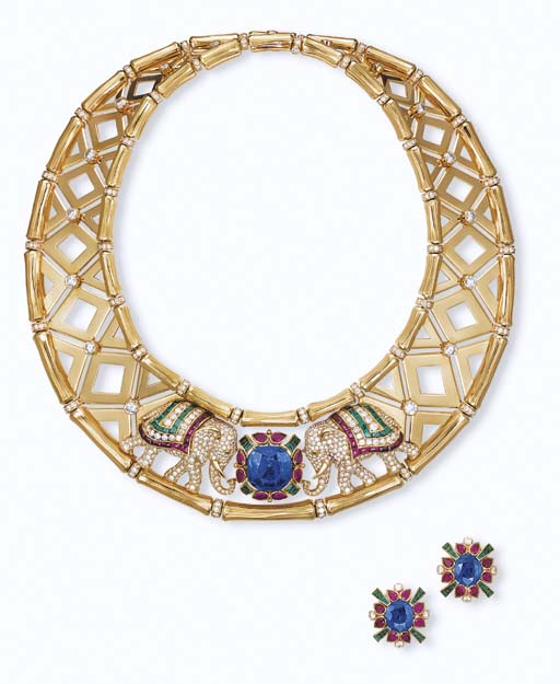 A SUITE OF 18K GOLD, MULTI-GEM AND DIAMOND JEWELLERY, BY CARTIER