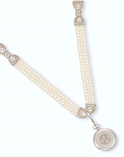 A BELLE EPOQUE SEED PEARL NECK