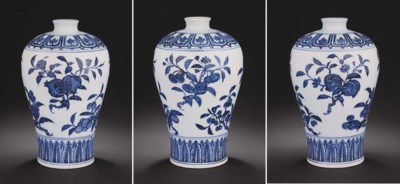 A SUPERB EARLY MING BLUE AND W