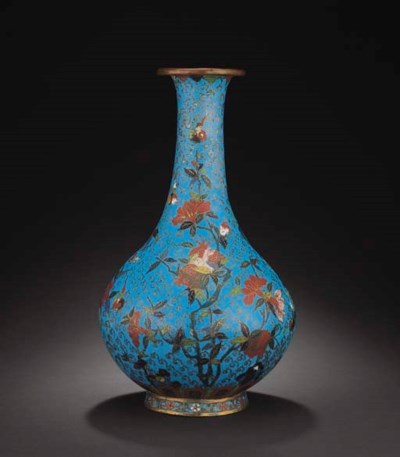 A VERY RARE MING CLOISONNE ENA