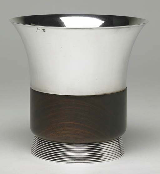 A FRENCH ART DECO SILVER AND R