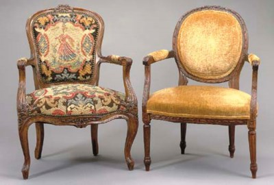TWO FRENCH STAINED BEECHWOOD F