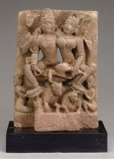 A NORTH INDIAN SANDSTONE STELE