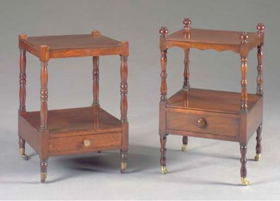 TWO SIMILAR REGENCY ETAGERES,