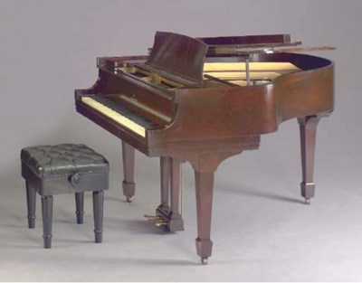 A STEINWAY AND SONS MAHOGANY B