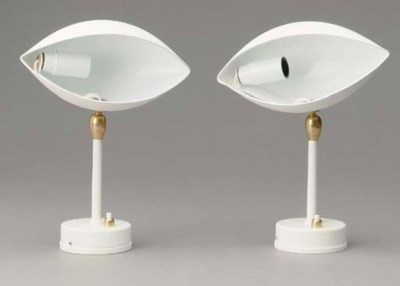 A PAIR OF WHITE CONTEMPORARY W