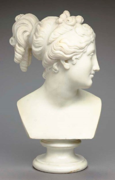 A NEOCLASSIC STYLE WHITE MARBL