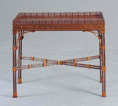 A GEORGE III STYLE SATINWOOD A