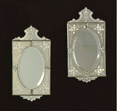 A PAIR OF VENETIAN STYLE ETCHE