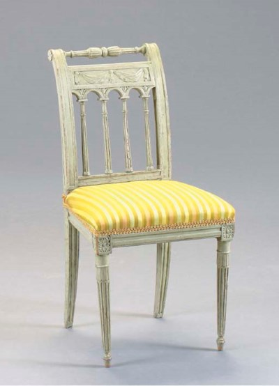 A DIRECTOIRE GREY-PAINTED SIDE
