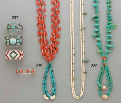 TWO SOUTHWEST TURQUOISE AND SH