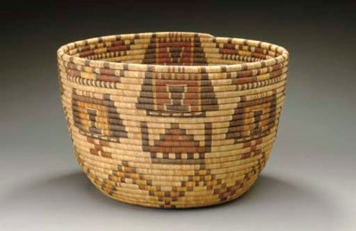 A HOPI POLYCHROME BUNDLE COILE