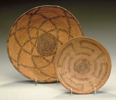 TWO SOUTHWEST COILED TRAYS