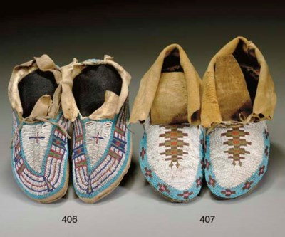 A PAIR OF PLAINS CREE BEADED H