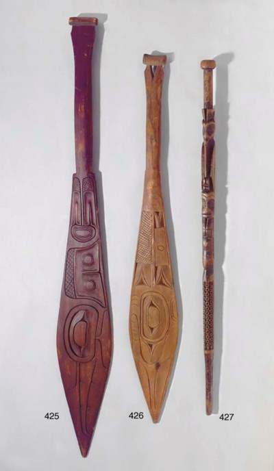 A HAIDA CARVED WOOD CEREMONIAL