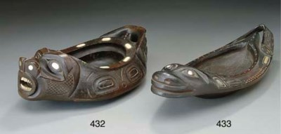 A HAIDA WOOD EFFIGY BOWL