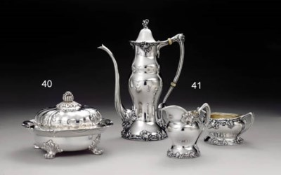 A SILVER BUTTER DISH