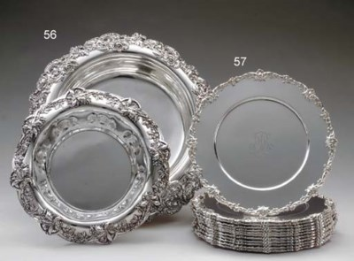 TWO SILVER CENTERPIECE BOWLS