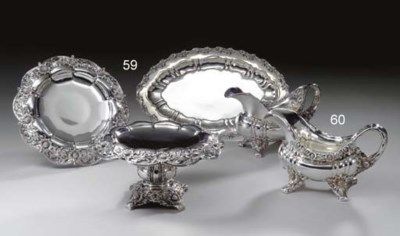 A GROUP OF SILVER TAZZAS