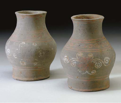 THREE CHINESE POTTERY VESSELS,
