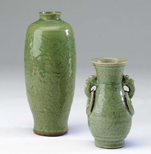SEVEN CHINESE LONGQUAN CELADON
