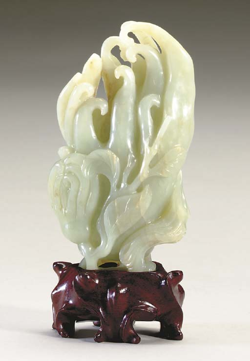 A CHINESE PALE GREEN NEPHRITE