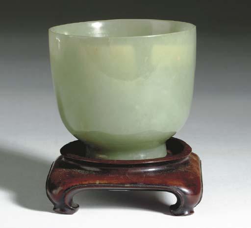 A CHINESE GREYISH GREEN JADE C