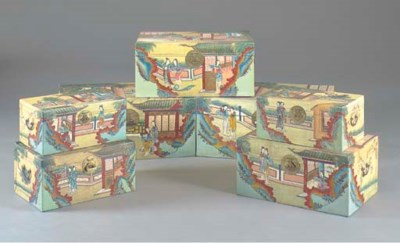 A SET OF SEVEN CHINOISERIE DEC