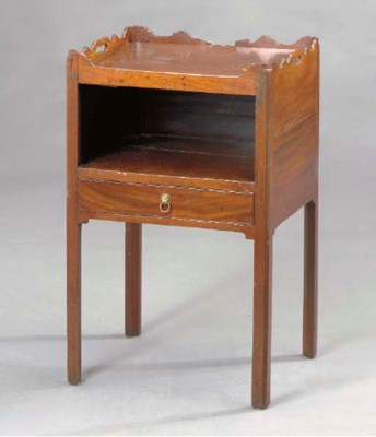A GEORGE III MAHOGANY TRAY-TOP
