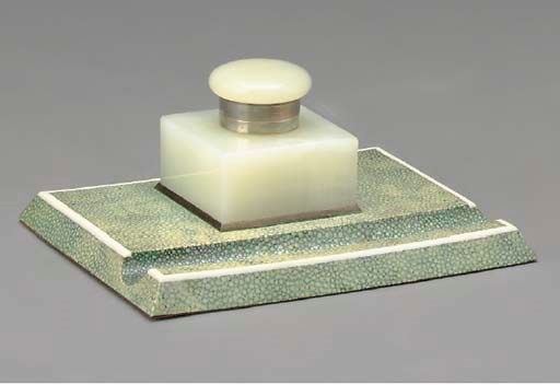A SHAGREEN VENEERED AND IVORY