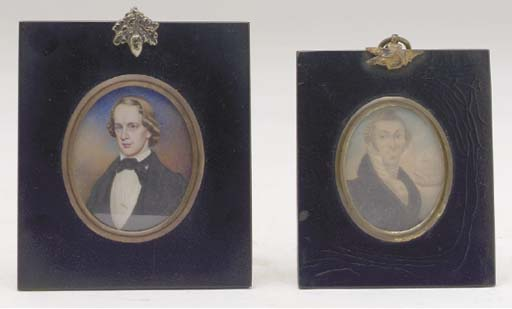 TWO PORTRAIT MINIATURES OF GEN