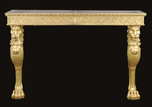 A REGENCY STYLE CARVED GILTWOO