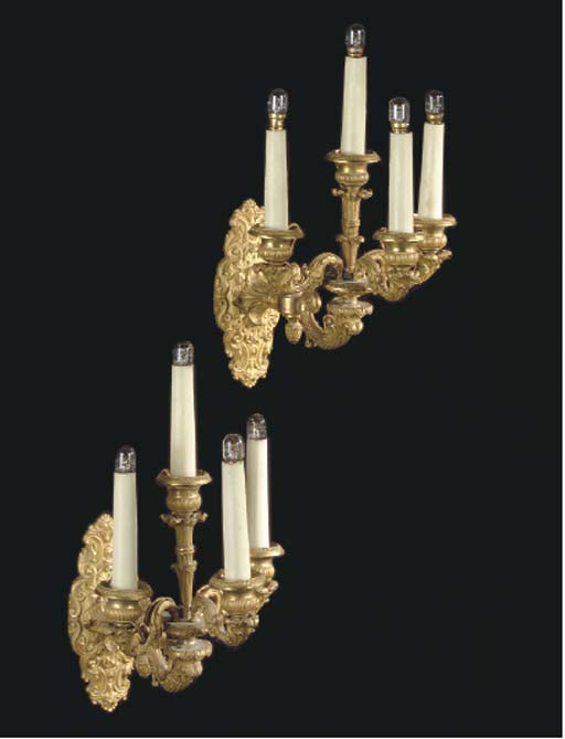 A PAIR OF LOUIS PHILIPPE ORMOL