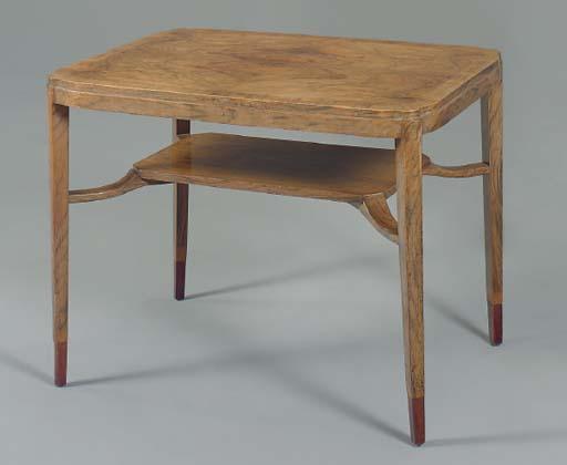 A GERMAN WALNUT TABLE,
