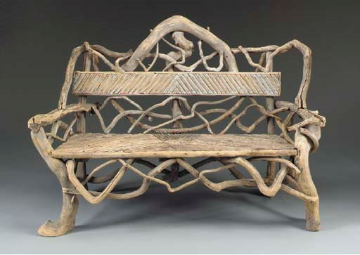 A RUSTIC BENCH,