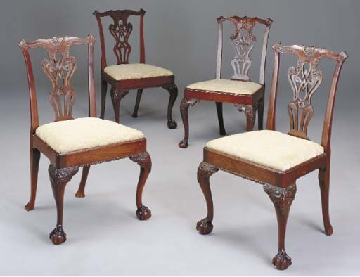 A MATCHED SET OF FOUR MAHOGANY