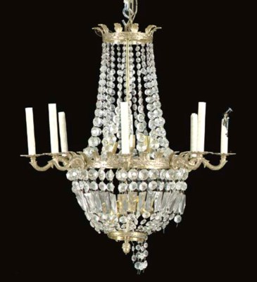 AN EMPIRE-STYLE CUT GLASS AND