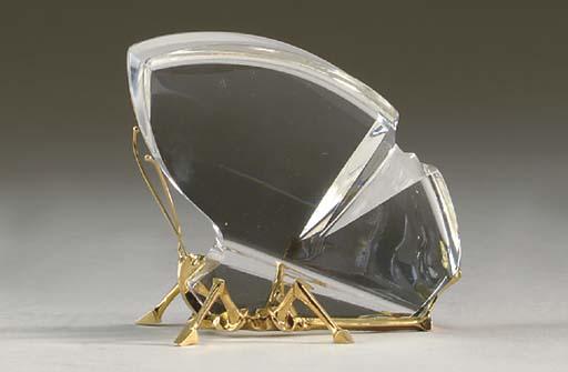 A GOLD-MOUNTED STEUBEN GLASS M