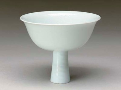 A CHINESE PORCELAIN WHITE-GLAZ